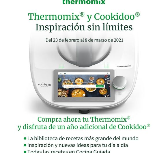 18 meses de Cookidoo gratis con tu Thermomix®