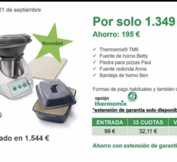 OFERTA¡¡¡¡ LA MEJOR COMPAÑIA PARA TU Thermomix® TM6