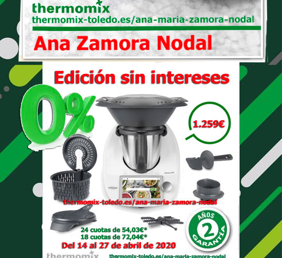 Thermomix® TM6 sin intereses.