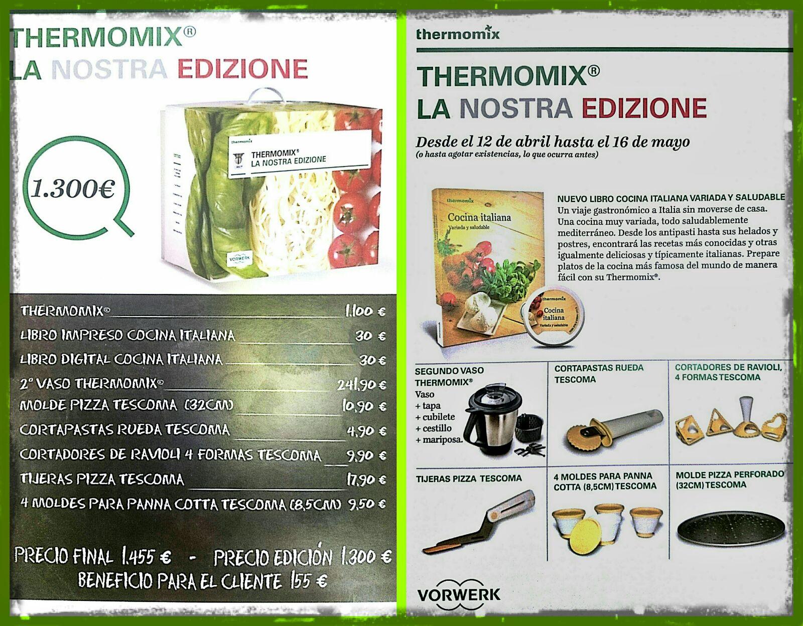 NUEVA EDICIÓN DE Thermomix® : LA NOSTRA EDIZIONE!!!