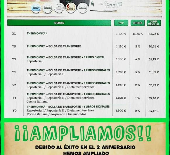 Ampliacion 2 aniversario de Thermomix®