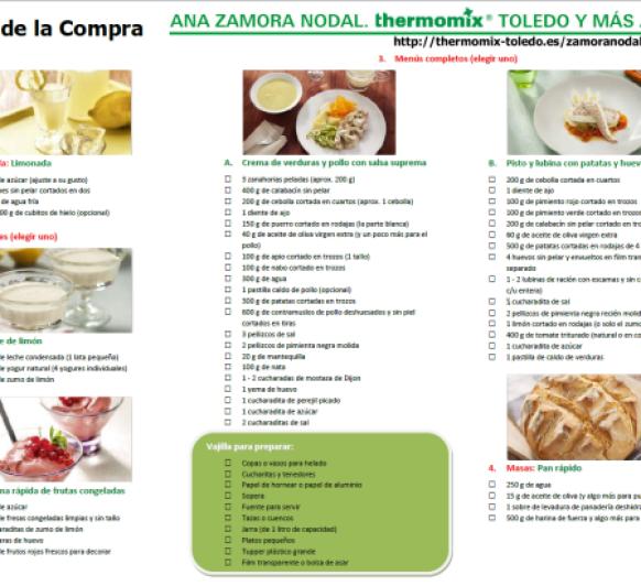 Ingredientes demostración básica Thermomix® .