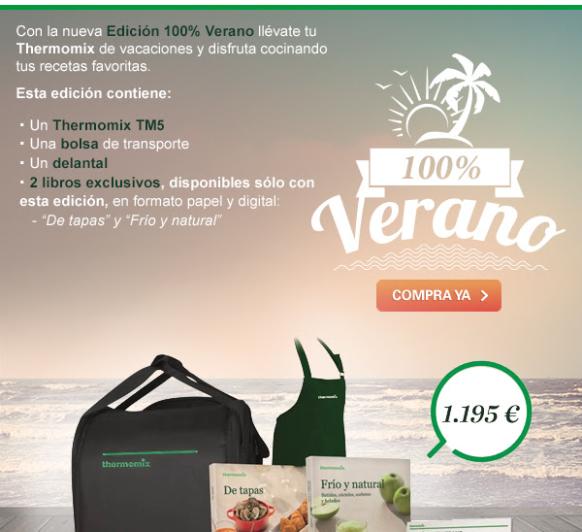 Nueva promocion para Thermomix® Tm5: Edicion100% verano