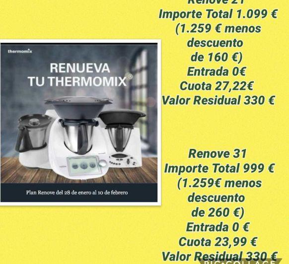Notición plan renové Thermomix® ... #comprar Thermomix® toledo