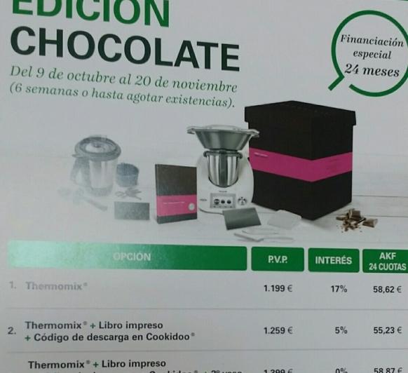 NUEVA EDICIÓN CHOCOLATE AL 0% DE INTERÉS
